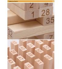 Bộ đồ chơi rút gỗ 51 thanh gỗ ngọc bích